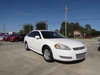 This 2013 Chevrolet Impala LS in White features: FWD