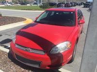 Impala LT, 4D Sedan, FWD, Victory Red, and Ebony