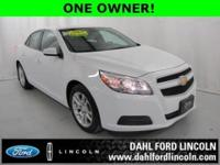 ONE OWNER! Malibu Eco, 37 MPG HWY!! Rear View Camera