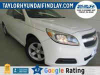 2013 White Chevrolet Malibu LS  Priced below KBB Fair