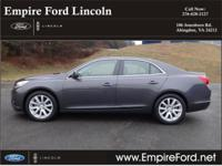 Options:  2013 Chevrolet Malibu Lt|Lt 4Dr Sedan