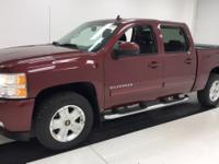 Clean CARFAX. 2013 Deep Ruby Metallic Chevrolet 4D Crew