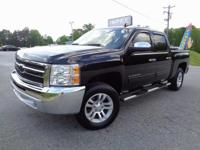 Silverado 1500 LT, 4D Crew Cab, Black, Light