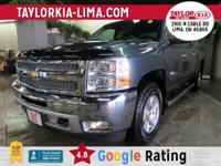 Teal Green 2013 Chevrolet Silverado 1500 LT 4WD 6-Speed