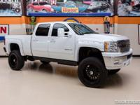 2013 Chevrolet Silverado 2500HD LTZ 4X4  WHITE, LIFTED,