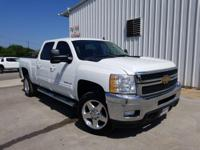 Clean CARFAX. White 2013 Chevrolet Silverado 2500HD LTZ