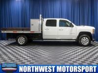 Clean Carfax Flatbed Diesel Truck with Tool Boxs!