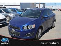 Meet our 2013 Chevrolet Sonic LT in stunning Blue Topaz