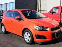 2013 Chevrolet Sonic Inferno Orange Metallic LT CARFAX