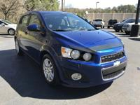 Options:  2013 Chevrolet Sonic 5Dr Hatchback Manual