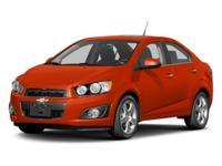 2013 Chevrolet Sonic LT ECOTEC 1.8L I4 DOHC VVT