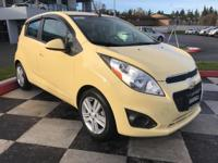 Yellow 2013 Chevrolet Spark 1LT FWD 4-Speed Automatic