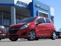 Red Hot! Stick shift! 2013 Chevrolet Spark LS FWD.  Are