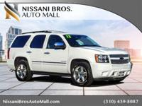 Clean CARFAX. Summit White 2013 Chevrolet Tahoe LTZ RWD