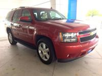 2013 RED CHEVY TAHOE WITH THIRD ROW IN GREAT