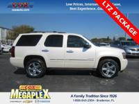 This 2013 Chevrolet Tahoe LTZ in White Diamond Tricoat
