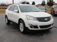 This 2013 Chevrolet Traverse 2LT in Champagne Silver