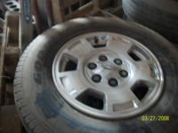 Aluminum wheels off of 2013 Chevy Suburban. 265/70/17