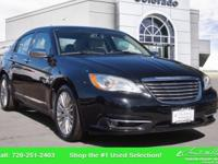 Our One-Owner 2013 Chrysler 200 Limited shown in Black