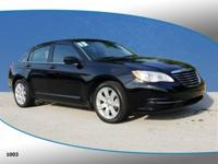 This 2013 Chrysler 200 Touring in Black Clearcoat