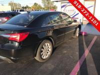 Black 2013 Chrysler 200 Touring FWD 6-Speed Automatic