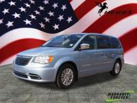 Clean CARFAX. Blue 2013 Chrysler Town & Country Limited