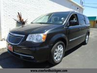 Clean CARFAX. Black 2013 Chrysler Town & Country