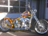 2013 Custom Built Indian Larry Custom Chopper Bobber.