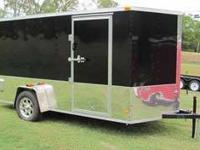 "2013 CUSTOM ENCLOSED 6X12 VNOSE CARGO TRAILER 24"" OF"