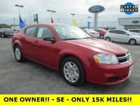ONE OWNER!! -- 2013 AVENGER SE -- ONLY 15K MILES!! --