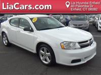 2013 Dodge Avenger in Bright White Clearcoat. 17 x 6.5