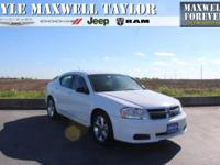 2013 DODGE AVENGER SE IN BRIGHT WHITE CLEARCOAT!!