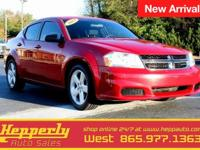 This 2013 Dodge Avenger SE in Red features. !!CLEAN