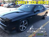 Black 2013 Dodge Challenger SRT8 RWD 5-Speed Automatic