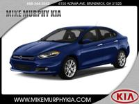 This 2013 Dodge Dart Limited includes a braking assist,