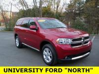 Clean CARFAX 2013 Dodge Durango SXT Red 3.6L V6 Flex