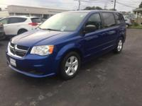 This 2013 Dodge Grand Caravan SE in Blue Streak