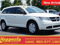 This 2013 Dodge Journey AVP in Pearl White Tri-Coat