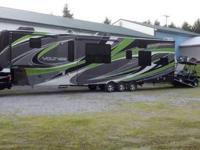 The Voltage RV is the king of fifth wheel toy hauler