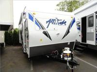 Attitude Pro-Lite Toy Hauler Travel Trailer, Rear Bed,