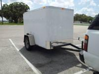 2013 ENCLOSED ITEM TRAILER 5x8 _____ outside 5ft vast