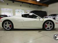 2013 Ferrari 458 Spider; gorgeous car white on black