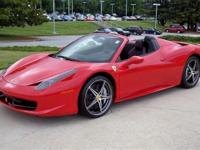 Just in !! 2013 Ferrari 458 Spider with an unbelievable