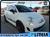 CARFAX 1-Owner, ONLY 7,072 Miles! Abarth trim. EPA 34