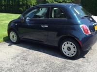 LOW MILEAGE. (6500 miles), dark blue Fiat 500 Pop.