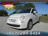 This Fiat 500 is ready and waiting for you to take it