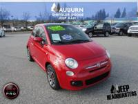 LOW MILES, 1 OWNER, LEATHER!  This 2013 Fiat 500 has