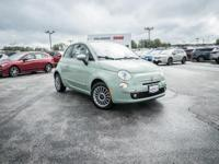 Clean CARFAX. Verde Oliva (Olive Green) 2013 Fiat 500c