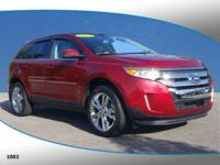 Recent Arrival! This 2013 Ford Edge Limited in Red
