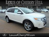 CARFAX One-Owner. Clean CARFAX. White 2013 Ford Edge